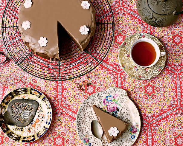 Chocolate Cake And Tea Wall Art