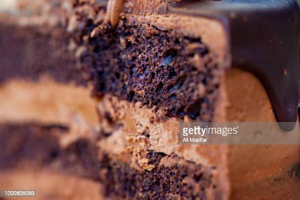 chocolate cake - sponge cake stock pictures, royalty-free photos & images