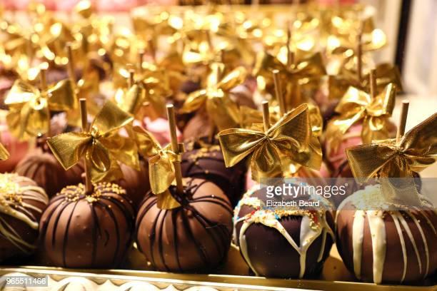 Chocolate cake pops for sale at Hamburg Christmas Market