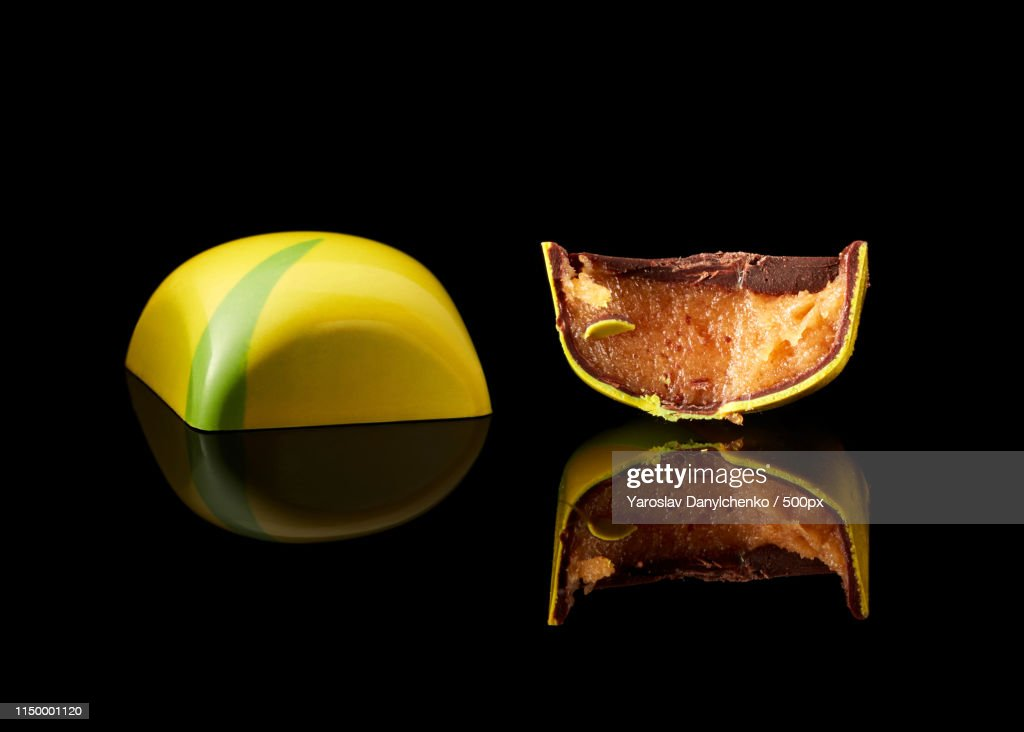 Chocolate Candy On Black Background : Stock Photo