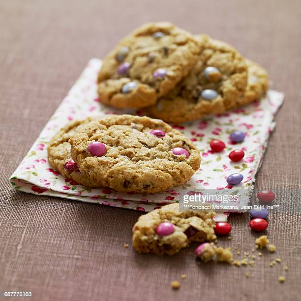 Chocolate chip and Smarties cookies
