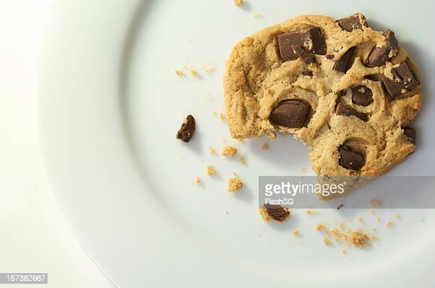 Chocolate Chip Cookie With A Bite Taken Out Of It