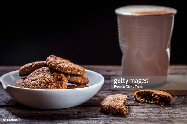 Chocolate Chip Cookies, Coffee in Background