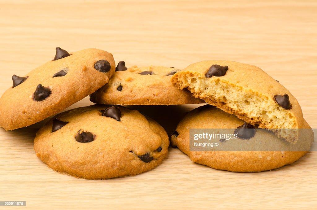 Galletas con pedacitos de Chocolate : Foto de stock