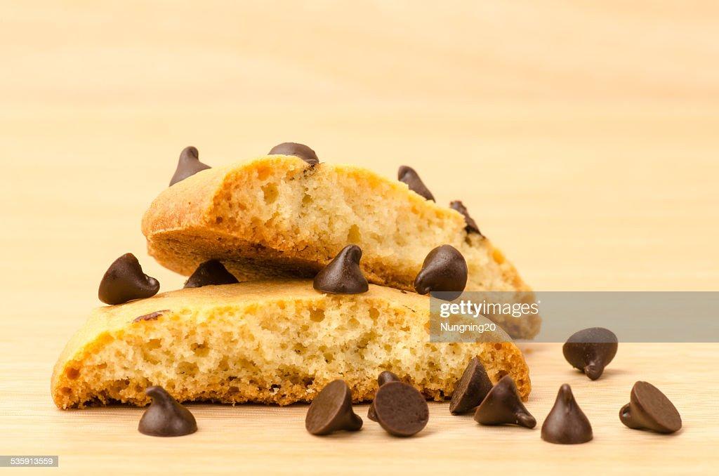 Bolachas pepitas Chocolate : Foto de stock