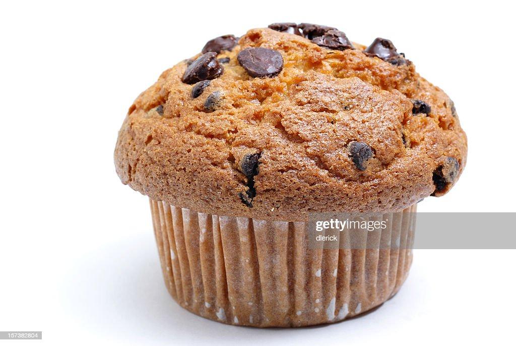 chocolate chip muffin : Stock Photo