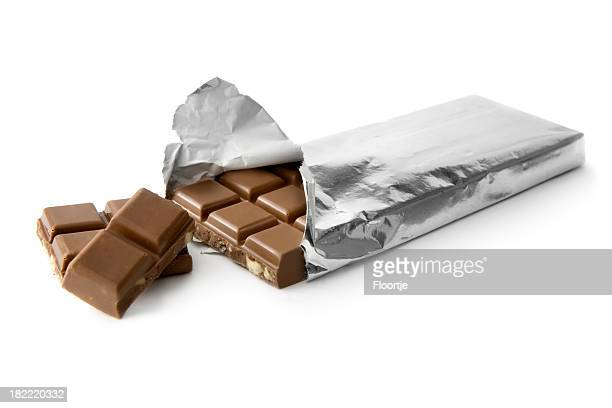 Schokolade: Chocolate Bar in Silber-Metallic