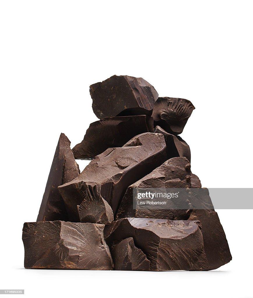 Chocolate chunks : Stock Photo