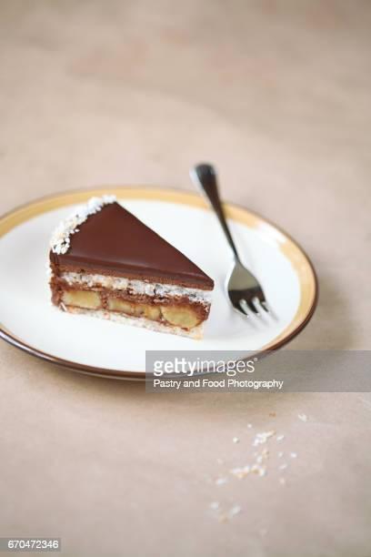Chocolate, Coconut and Banana Cake