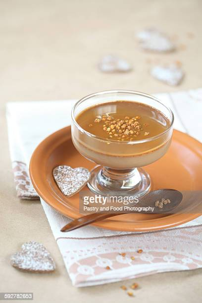 Chocolate Coffee Panna Cotta with Caramel Sauce