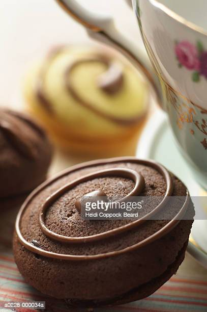 Chocolate Cookies and Tea Cup