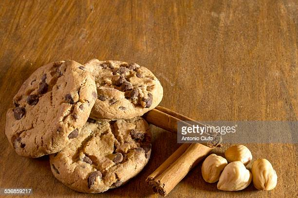 Chocolate cookies with cinnamon and nuts
