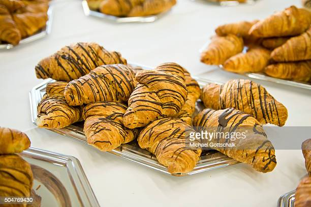 Chocolate Croissants on a plate on December 12 2015 in Berlin Germany