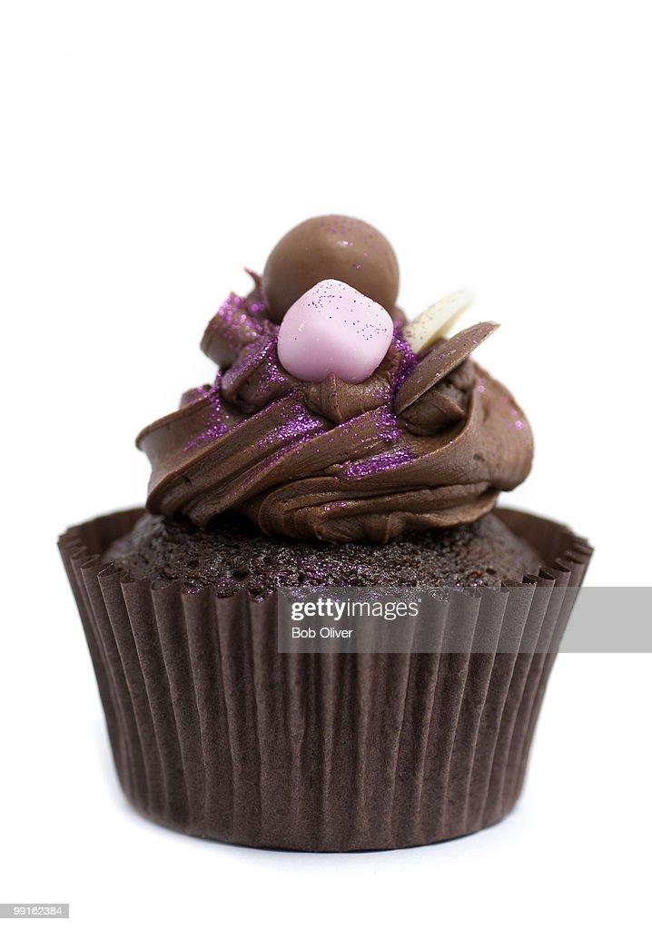 Chocolate cupcake : Stock Photo