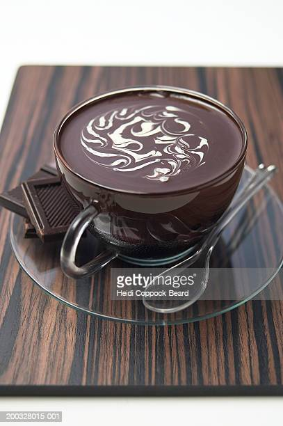 chocolate dessert - heidi coppock beard stock pictures, royalty-free photos & images