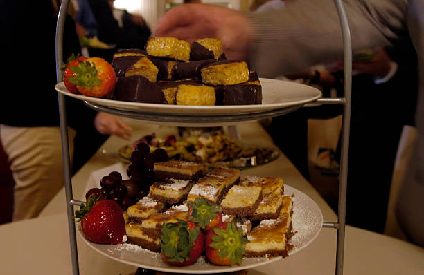 Chocolate dipped tempeh and lemon tofu cheesecake at the annual American Soybean Association's Capitol Hill lucheon.