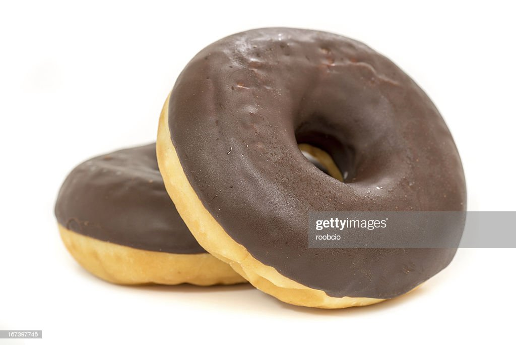 chocolate donut isolated on white background : Stock Photo