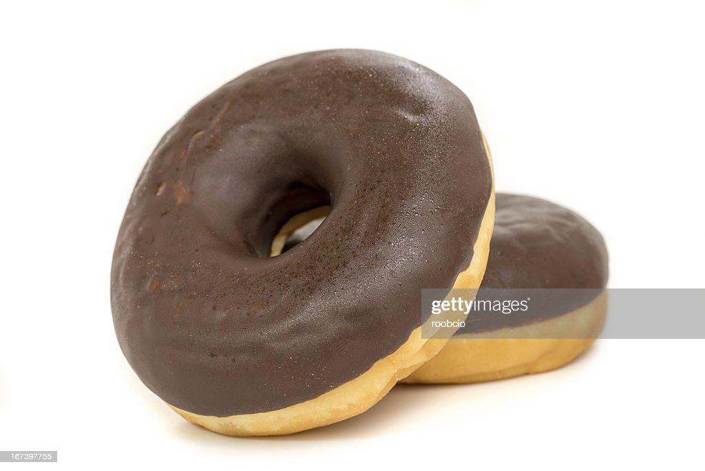 chocolate donut isolated on white background : Stockfoto