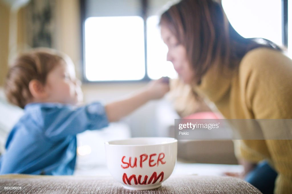 Chocolate for my super mum : Stock Photo