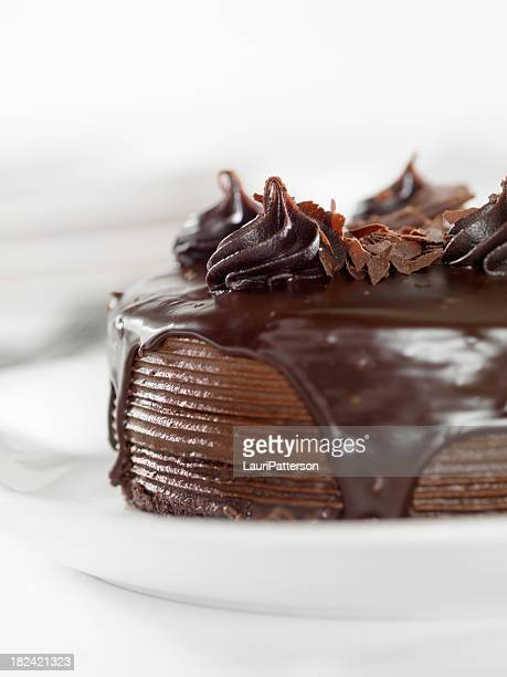 chocolate fudge cake - fudge stock pictures, royalty-free photos & images
