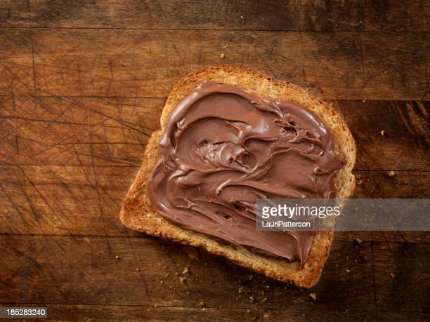 Schokolade Haselnuss sich auf Toast