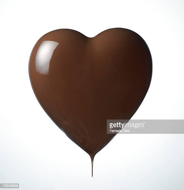 Chocolate heart, close-up