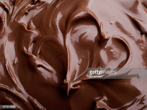 chocolate heart - swirl stock photos and pictures