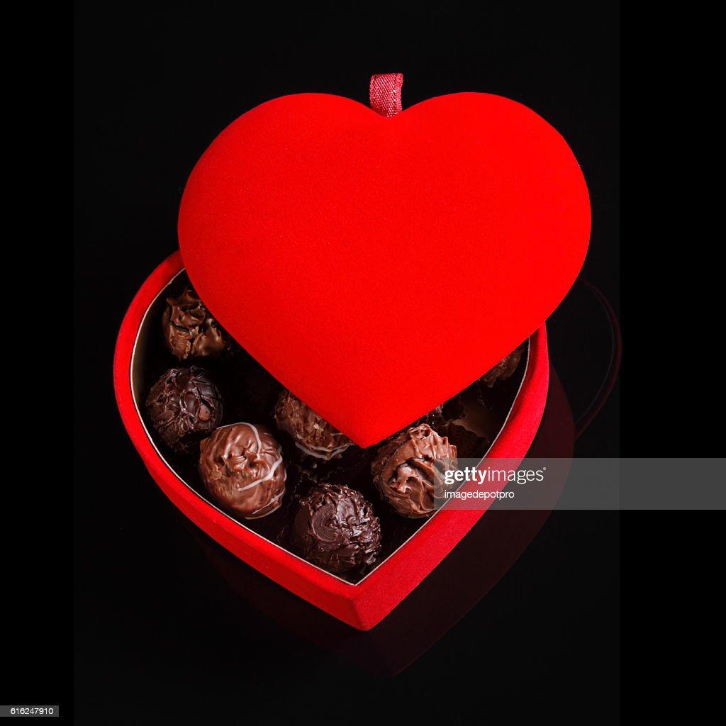 Coração de chocolate : Foto de stock