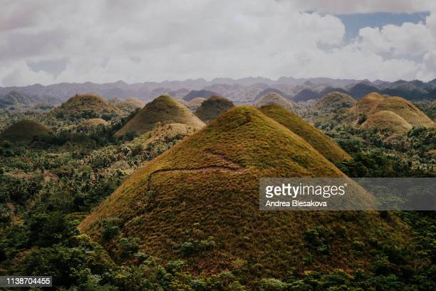 chocolate hills in bohol - cebu province stock pictures, royalty-free photos & images