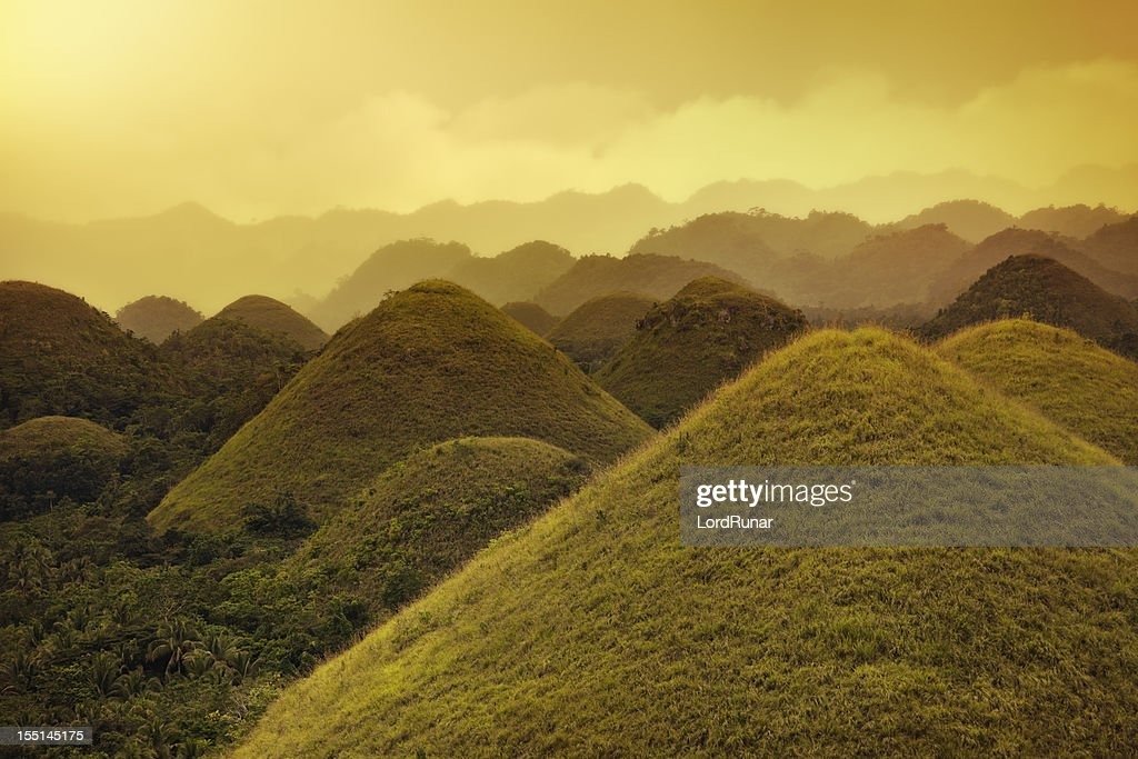 Chocolate hills : Stock Photo