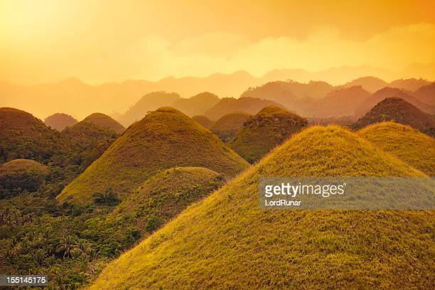 chocolate hills - philippines stock pictures, royalty-free photos & images