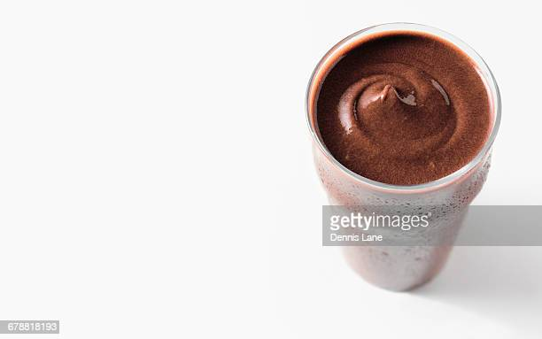 chocolate ice cream shake - protein drink stock pictures, royalty-free photos & images