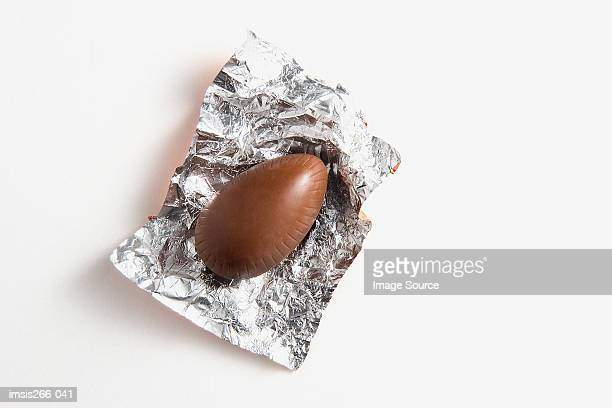 Chocolate in foil wrapper