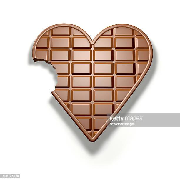 Chocolate in heart shape