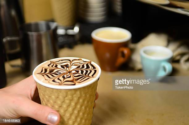chocolate latte - coffee drink stock pictures, royalty-free photos & images