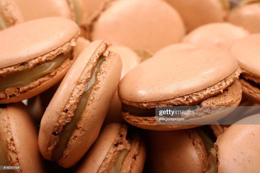 chocolate macaroon : Stock Photo