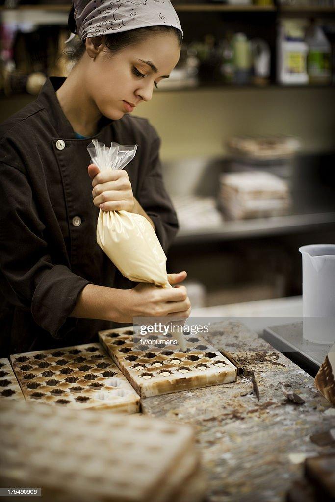Chocolate Maker : Stock Photo