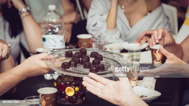 chocolate master class and tasting - chocolate making stock pictures, royalty-free photos & images