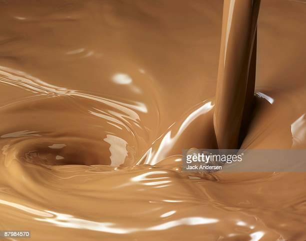 Chocolate milk pour