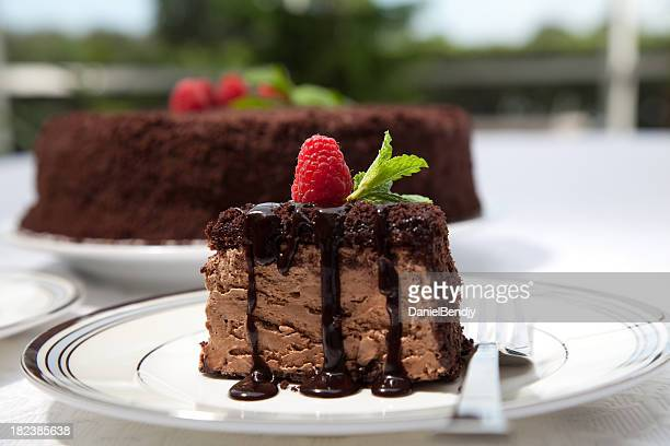 chocolate mousse cake - chocolate cake stock pictures, royalty-free photos & images