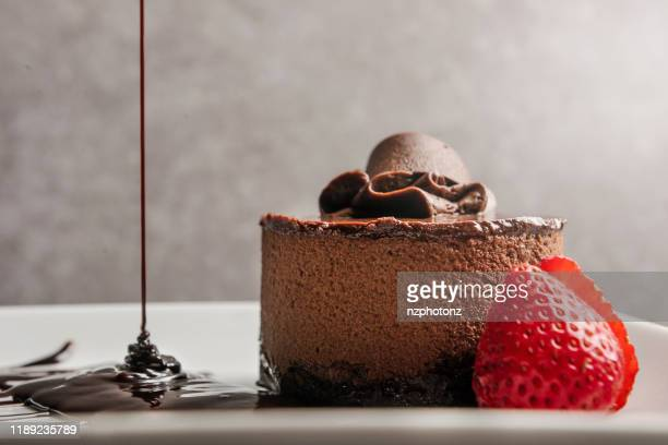 chocolate mousse / desserts concept (click for more) - fudge stock pictures, royalty-free photos & images