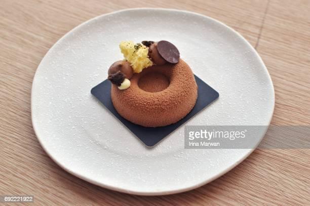 chocolate mousse - kawaii foto e immagini stock