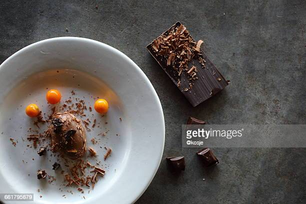 Chocolate Mousse with chocolate bar