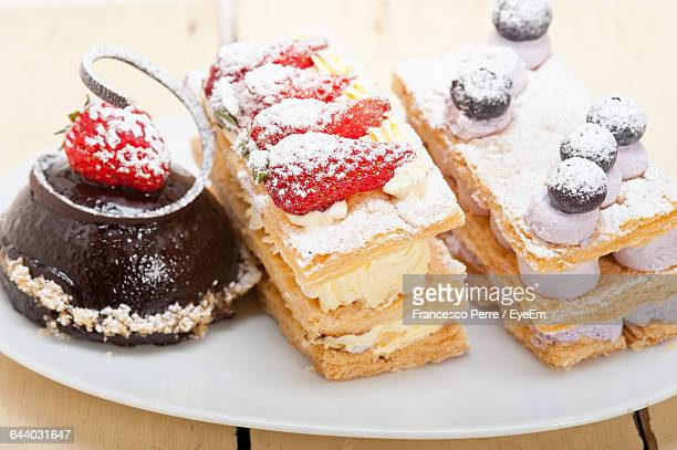 Chocolate Mousse With Mille Feuille And Berry Fruit