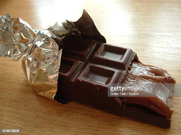 Chocolate On Wooden Table