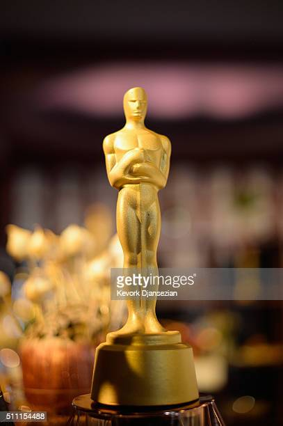 A chocolate Oscar statuette is seen during the 88th Annual Academy Awards Governors Ball press preview at The Ray Dolby Ballroom at Hollywood...