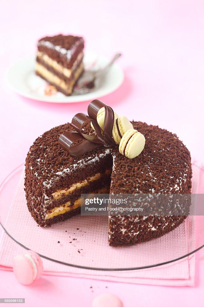 Chocolate Passionfruit Birthday Cake Stock Photo Getty Images