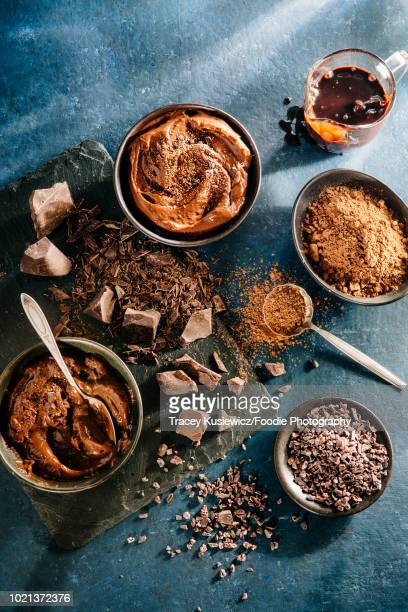 chocolate - chocolate mousse stock pictures, royalty-free photos & images
