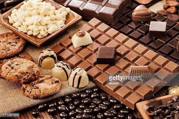 chocolate - white chocolate stock photos and pictures