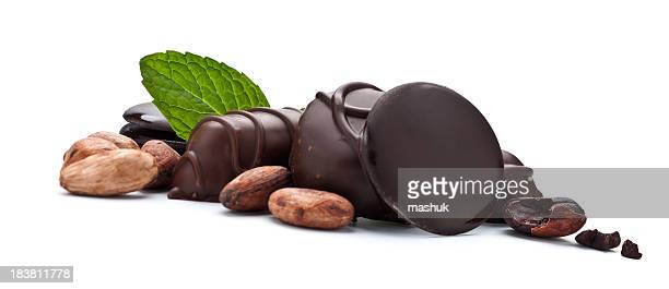chocolate - crushed leaves stock pictures, royalty-free photos & images